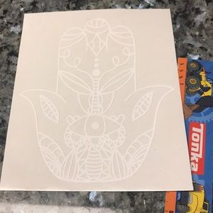 """Other - 6"""" Boho Decal White"""